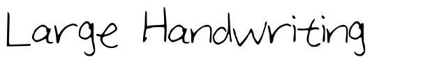 Large Handwriting