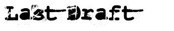 Last Draft font