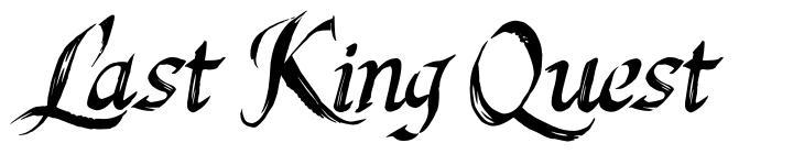Last King Quest 字形