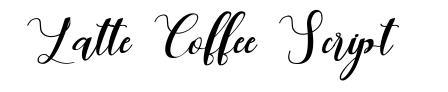 Latte Coffee Script font