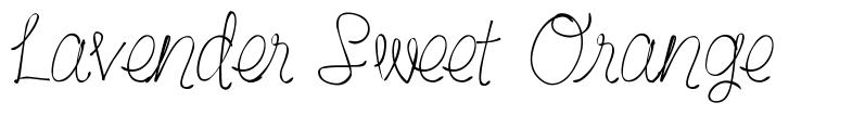 Lavender Sweet Orange font