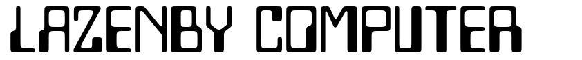 Lazenby Computer font