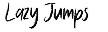 Lazy Jumps font