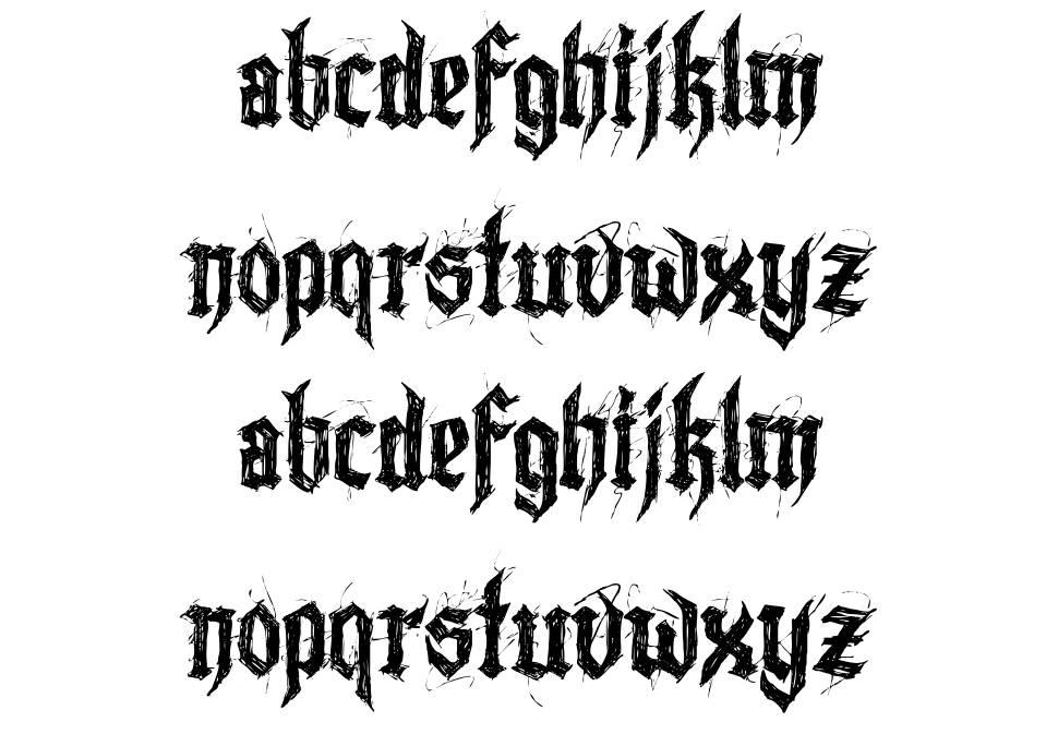 Lazy Monk font