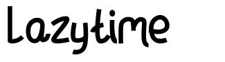 Lazytime font