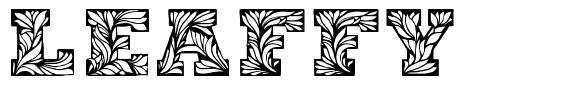 Leaffy font