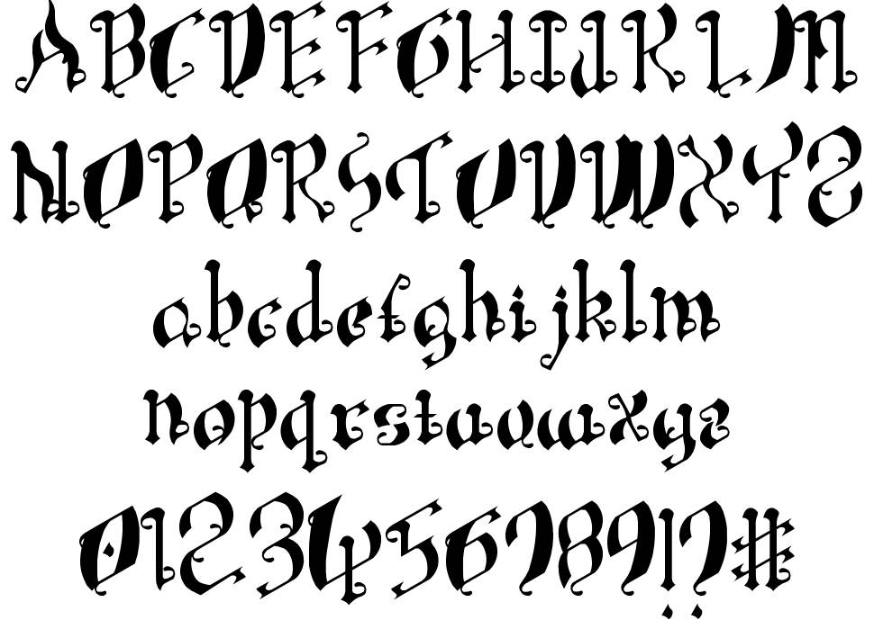 Leaning Simple Gothic Font フォント
