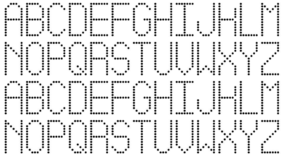 Led Simple ST font