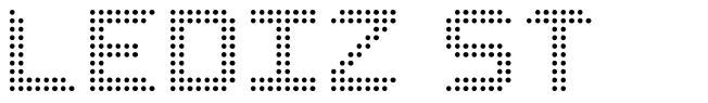 Lediz ST font