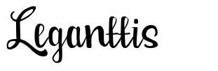 Leganttis フォント