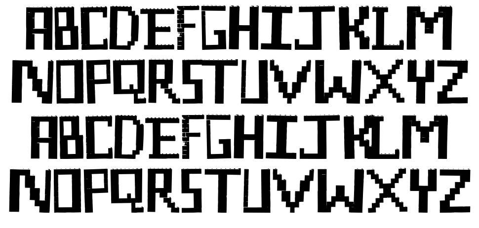 Lego Maniac font