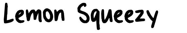 Lemon Squeezy font
