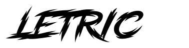 Letric font
