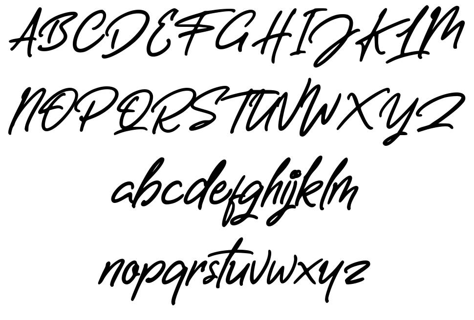 Letterally Handwritten font