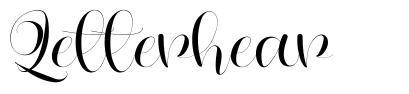 Letterhear font