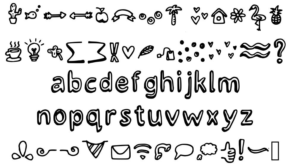 Lettertype Mies Crazy Icons písmo