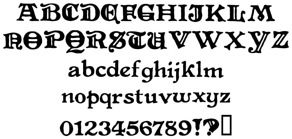 Level Fourteen Druid font