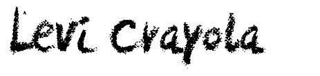 Levi Crayola font