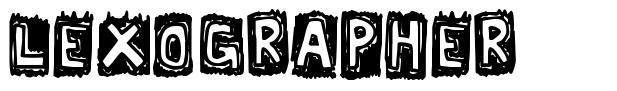 Lexographer font