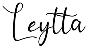 Leytta písmo