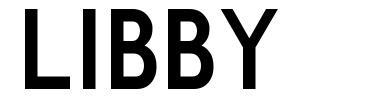 Libby font