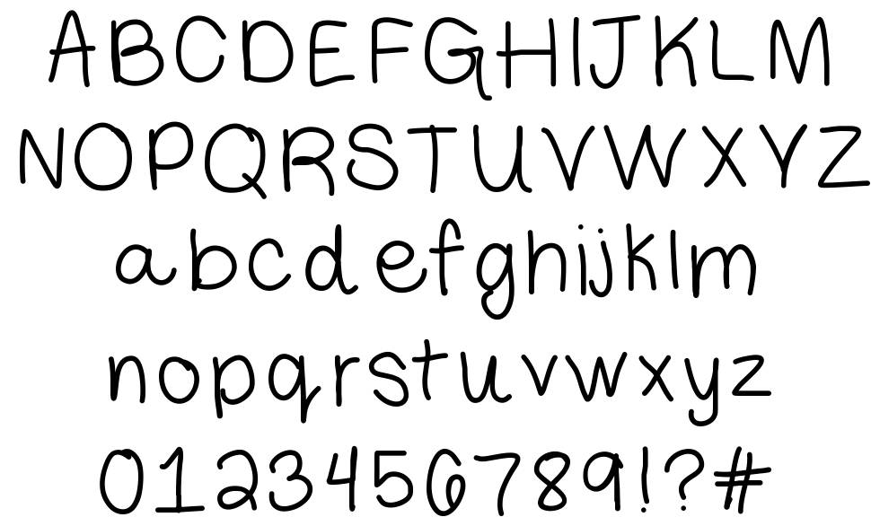 Libby Hand font