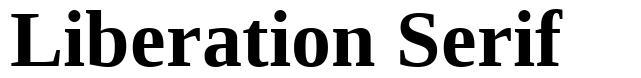 Liberation Serif 字形