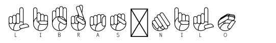Libras-nilo font