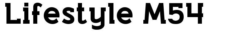 Lifestyle M54 font