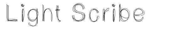 Light Scribe font