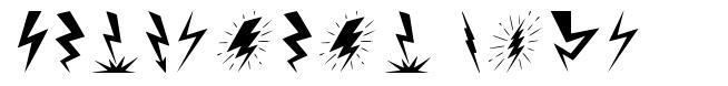 Lightning Bolt font