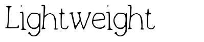 Lightweight font