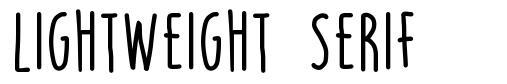 Lightweight Serif