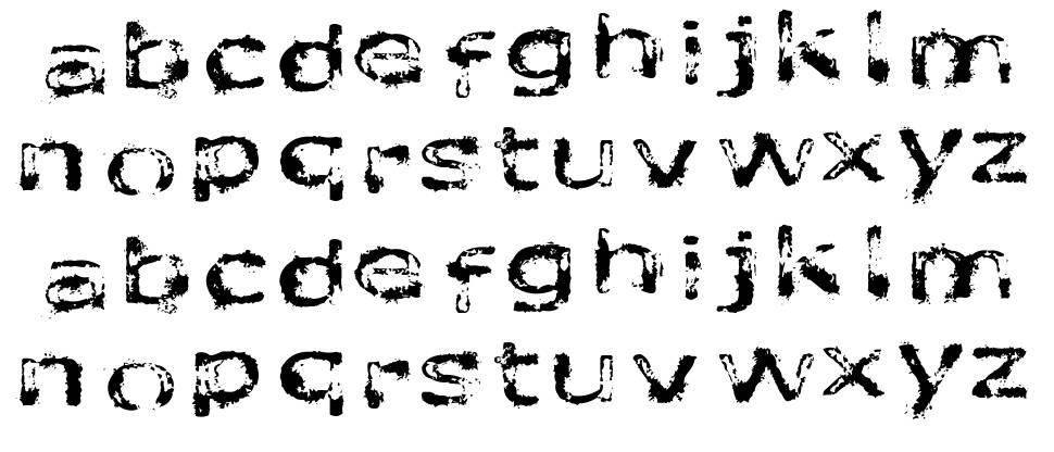 Like fonts in the rain font