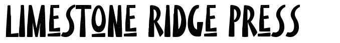 Limestone Ridge Press 字形