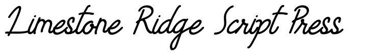 Limestone Ridge Script Press