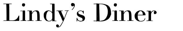 Lindy's Diner font