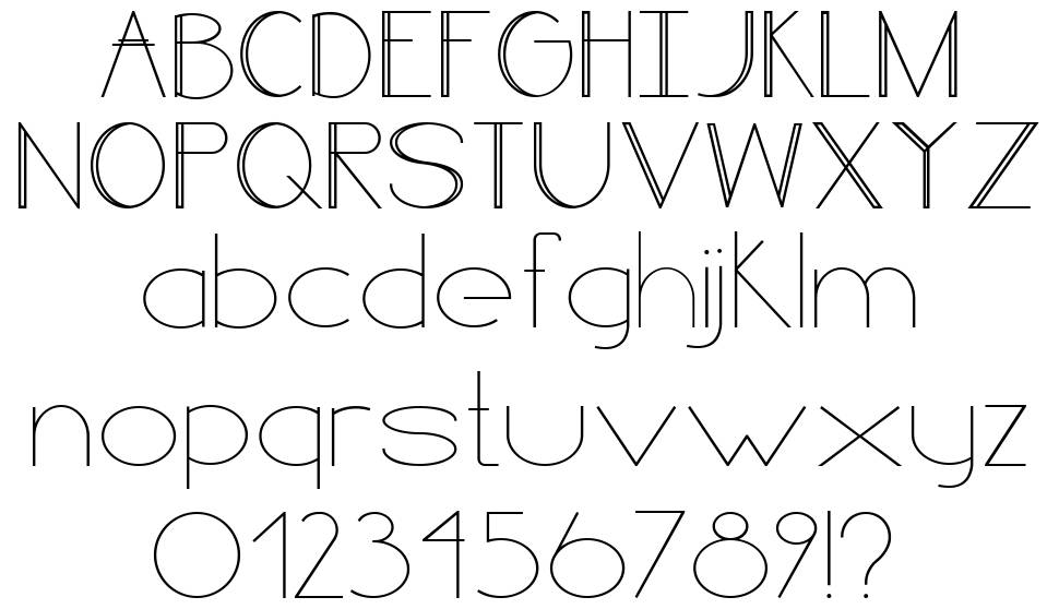 Line style font