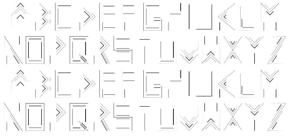 Linecap font