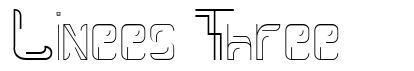 Linees Three font