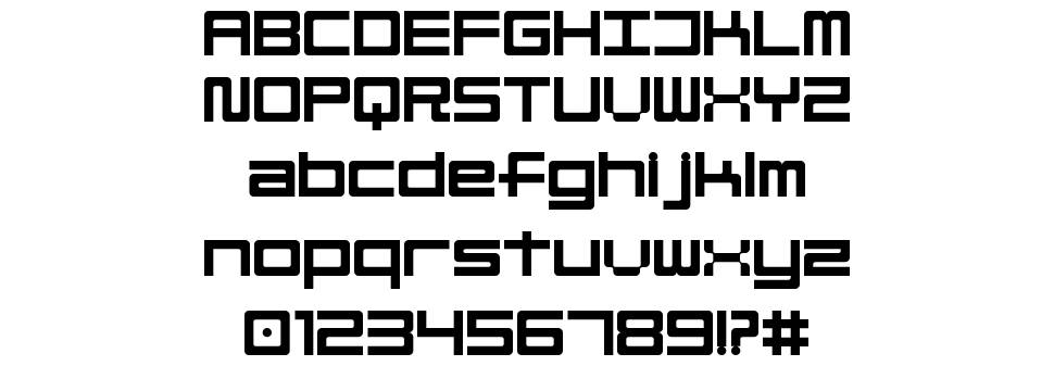 Linesquare Rounded Extended font
