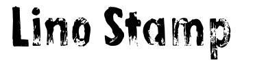 Lino Stamp font