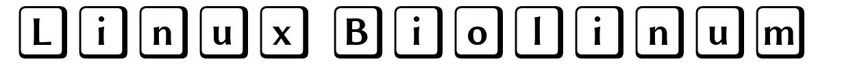 Linux Biolinum font