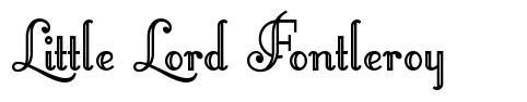 Little Lord Fontleroy 字形