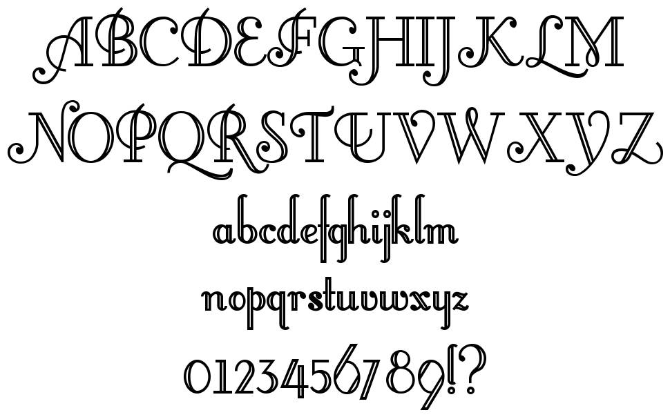 Little Lord Fontleroy font
