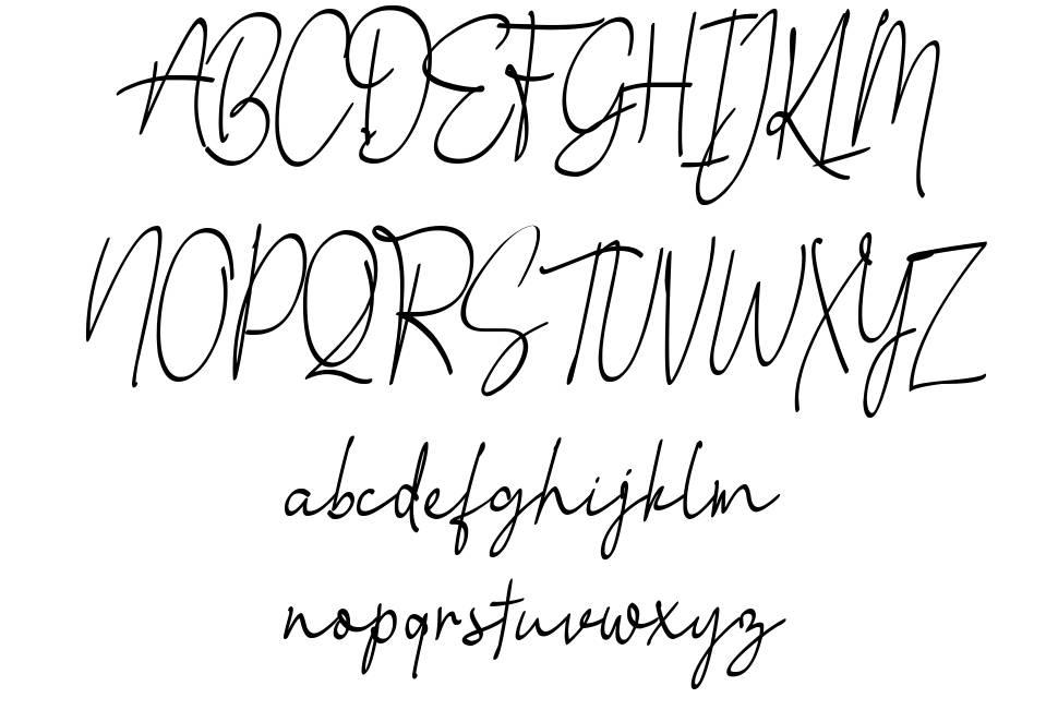 Little Queen Signature font