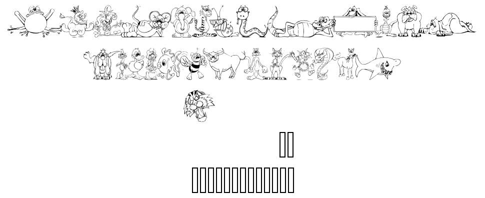 LM Animal Toons font