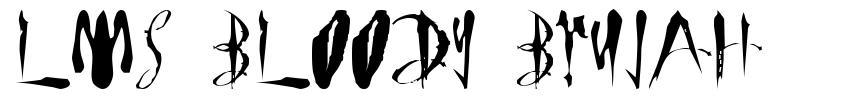 LMS Bloody Brujah font
