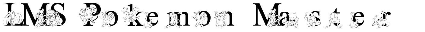 LMS Pokemon Master font