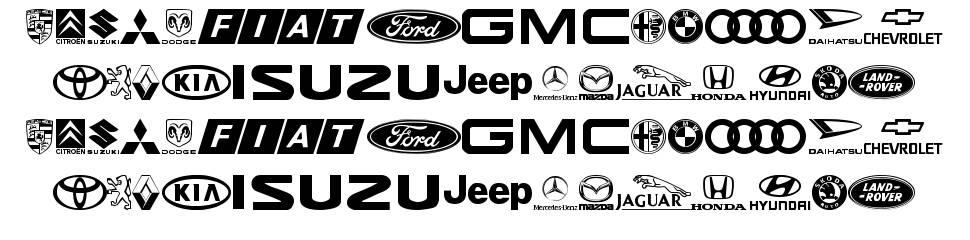 Logocarsbats TFB font